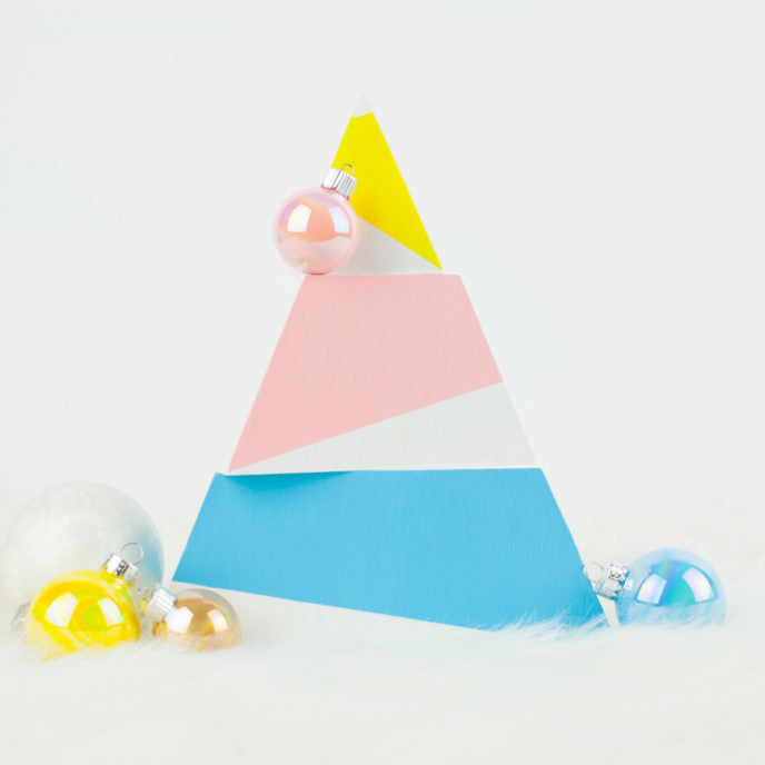 DIY Modern Holiday Tree & Ornaments
