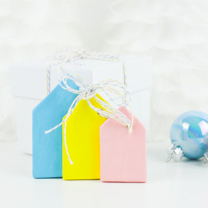 DIY Clay House Ornaments & Gift Tags
