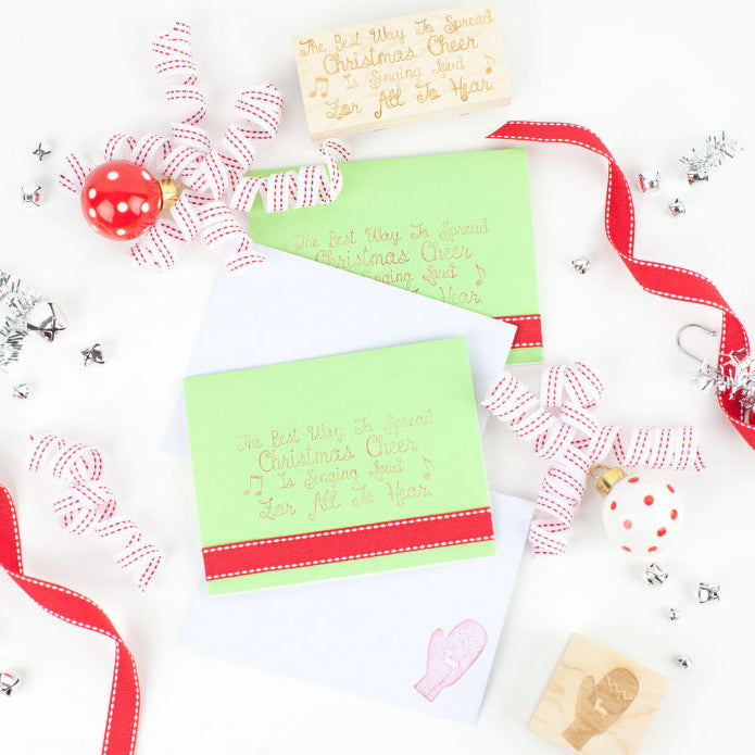 Christmas Cheer DIY Holiday Invites