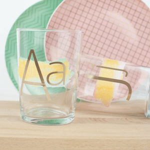 Vinyl Painted Monogram Glasses - DIY Anthro Hack