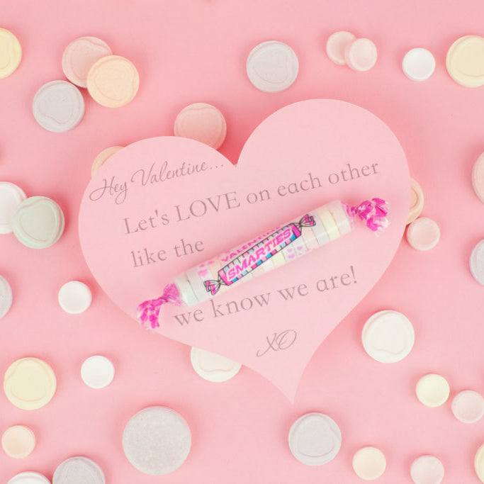 "Be A ""Smartie"" And LOVE On Me _ DIY Valentine's Day Cards"