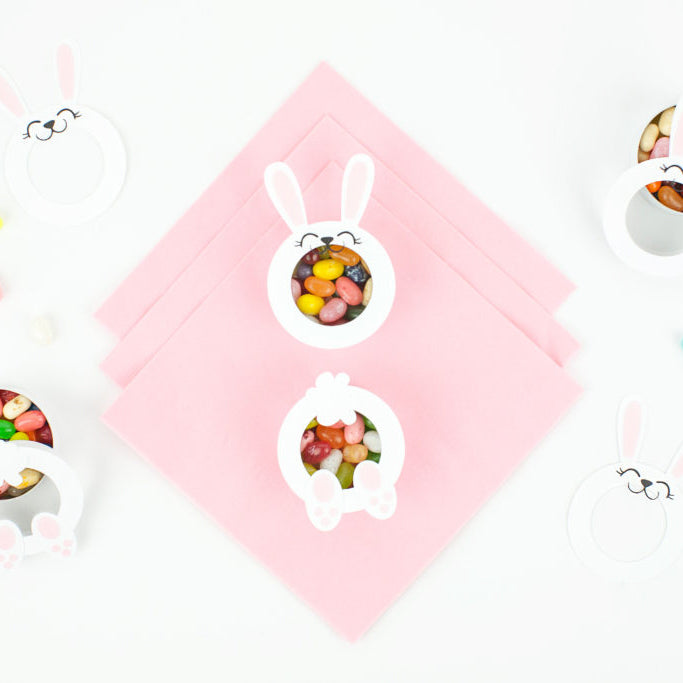 Candy Filled Bunny Faces and Bums for Easter - DIY