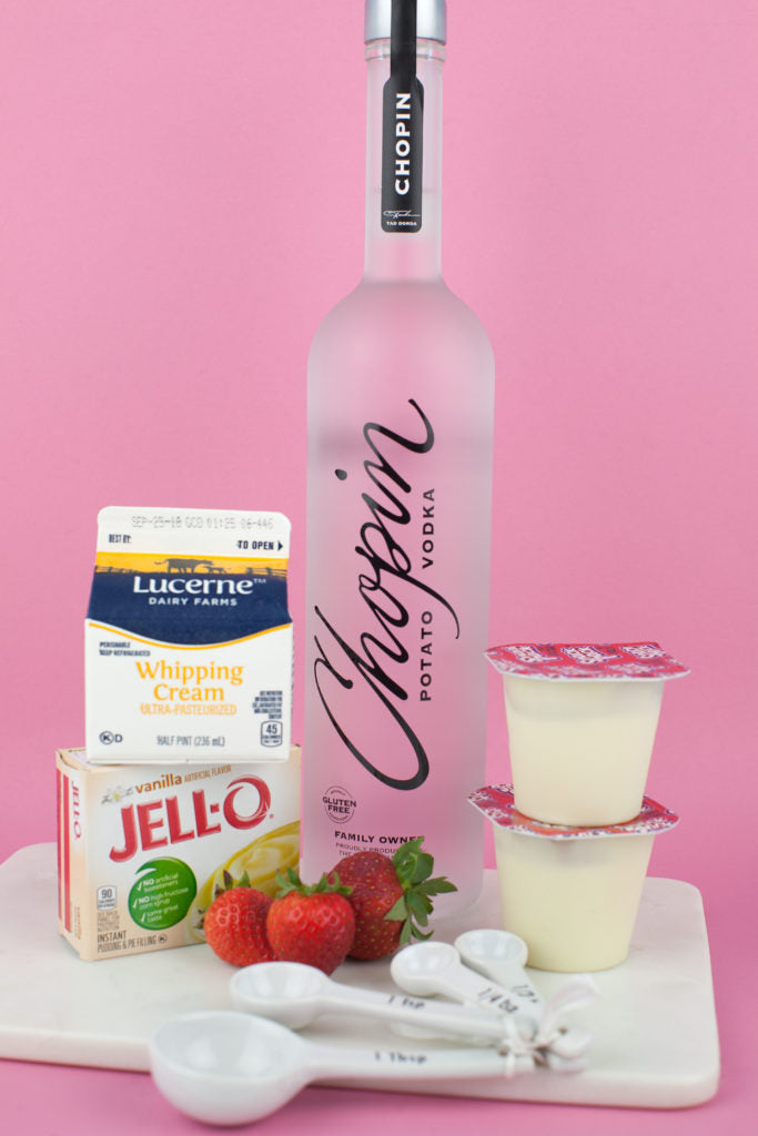 Vanilla and Strawberry Mousse Cocktail