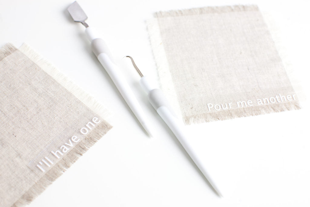 DIY Fringe Cocktail Napkins
