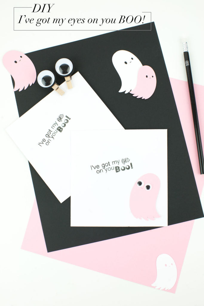 I've got my eyes on you BOO! DIY Mint Stamp