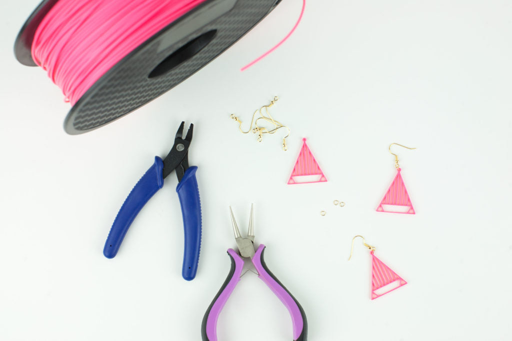 Modern 80's 3D Earrings - Alta 3D Printer
