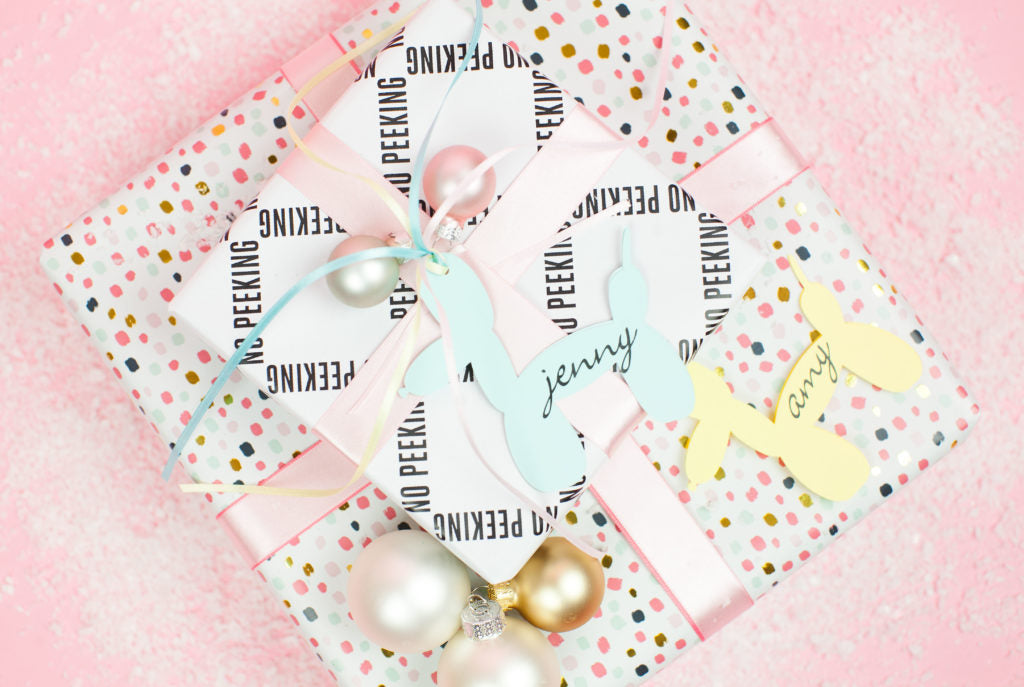 DIY Balloon Doggy Gift Tags