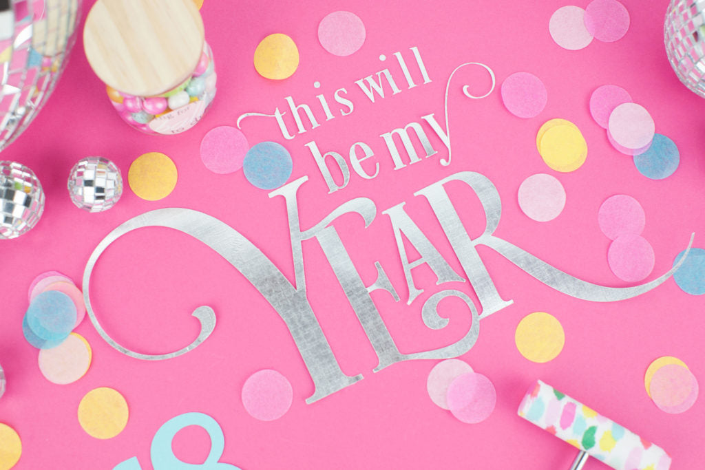 This is my year! This silver card stock design is sure to be a hit!