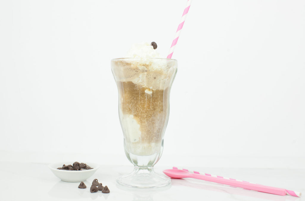 Malibu Chocolate Chip Cookie Dough Float. By far one of my summer favorites.