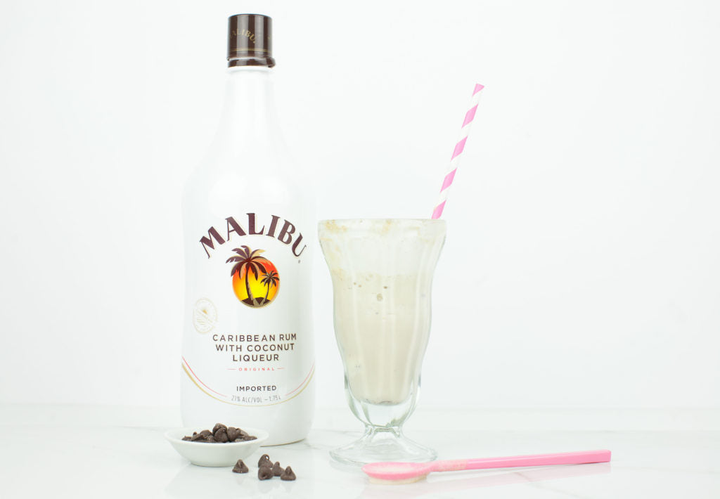 Malibu Chocolate Chip Cookie Dough Float. This would be a great summer drink!