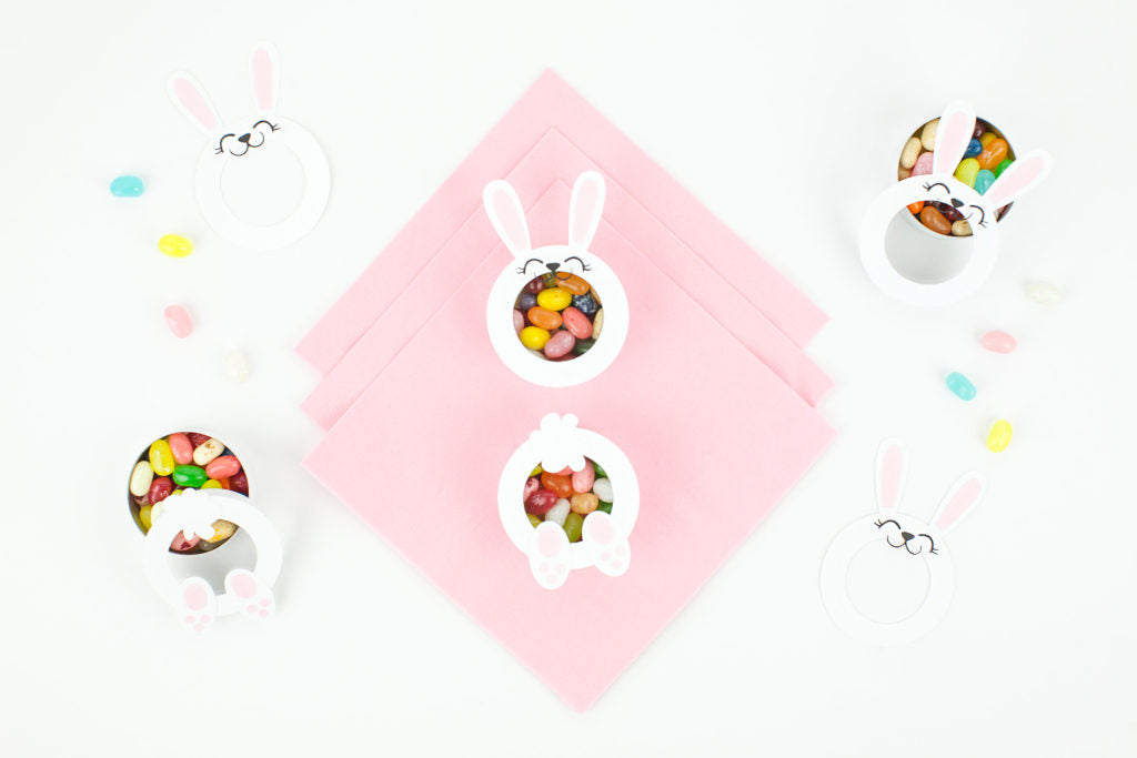 DIY Candy Filled Bunny Faces & Bums. How cute are these!