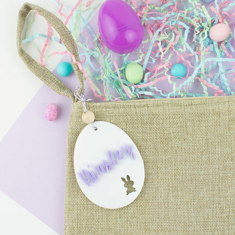 Egg Acrylic Hang Tag