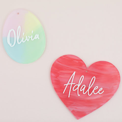 Personalized Painted Acrylic Name Tags