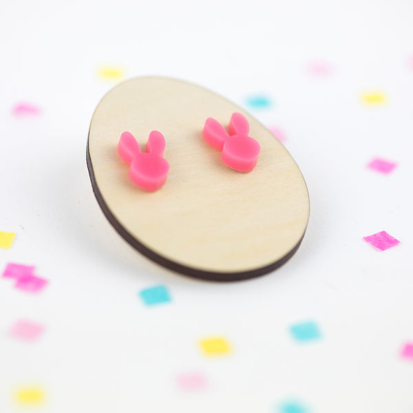 Bunny Head Acrylic Earrings | Acrylic Earrings | Stud Earrings | Bunny Earrings | Easter