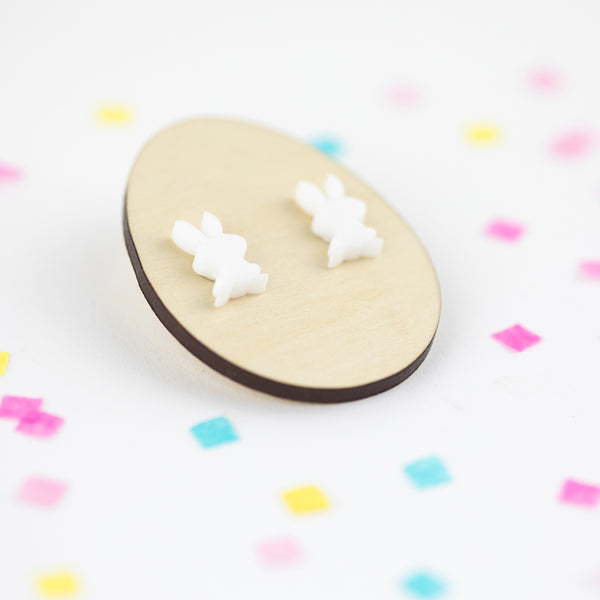 Bunny Acrylic Earrings | Acrylic Earrings | Stud Earrings | Bunny Earrings | Easter