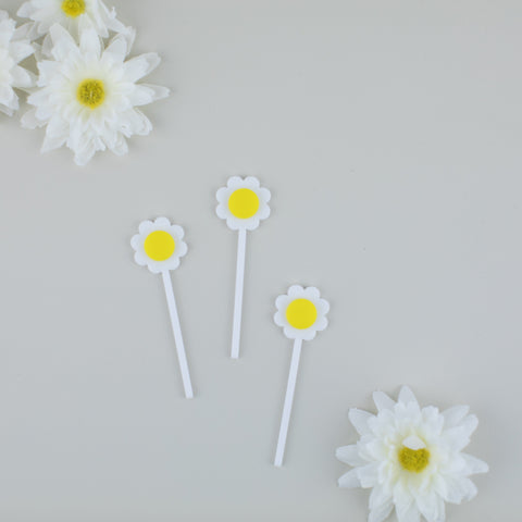 Daisy Cupcake Toppers, 6 count