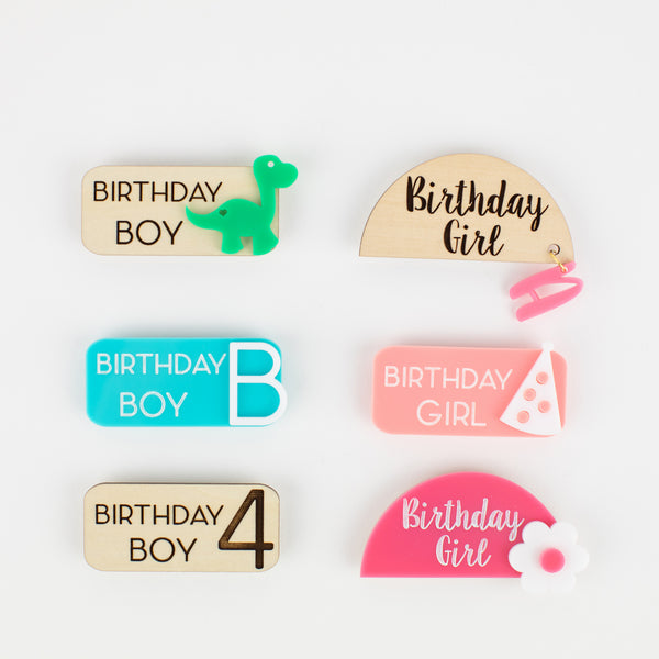 Boys Personalized Birthday Name Tag, Acrylic Tag, Birthday Name Tag, Personalized Name Tag, Magnetic Name Tag, Kids Name Tag, Birthday