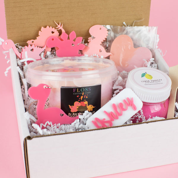 Dinosaur Girl Gift Box - Party Gift Box - Girl Gift Boxes - Kids Gift Boxes
