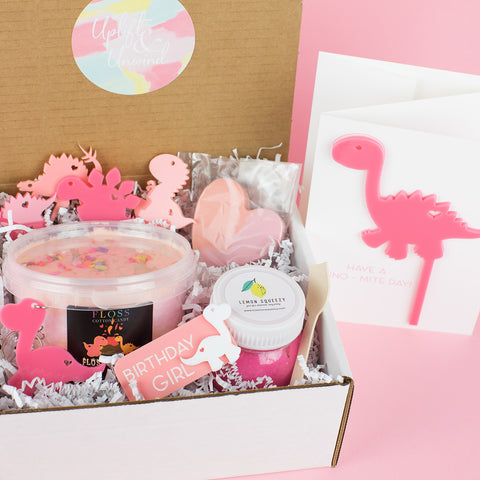 Dinosaur Girl Birthday Gift Box - Party Gift Box - Girl Gift Boxes - Kids Gift Boxes - Girl Birthday Box
