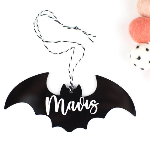 Bat Personalized Acrylic Hang Tag