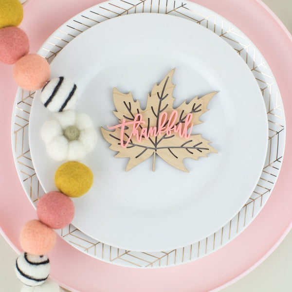 Thankful Leaf Place Card