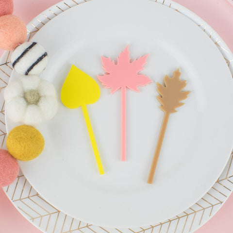 Leaf Cupcake Toppers - 6 Count