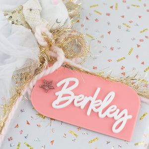 Personalized Acrylic Hang Tag - Slanted