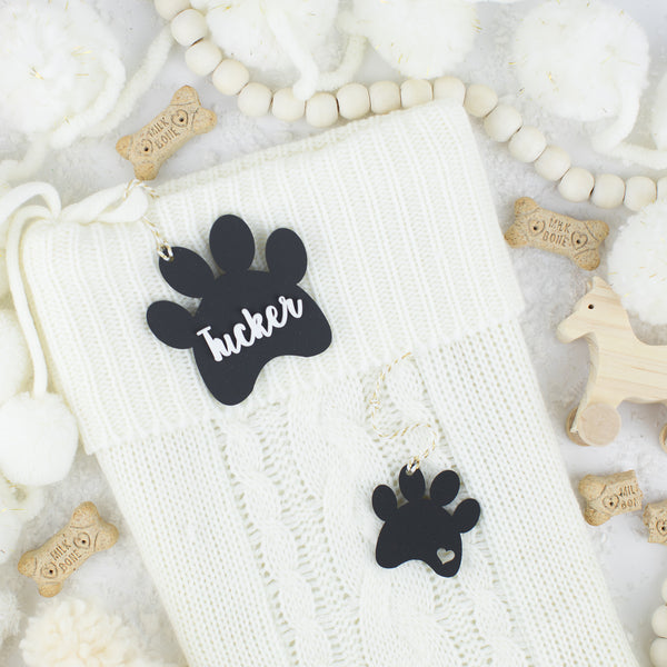 Dog Paw Acrylic Hang Tag and Bonus Ornament