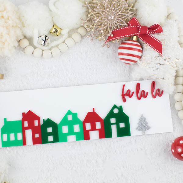 Holiday Village Acrylic Sign
