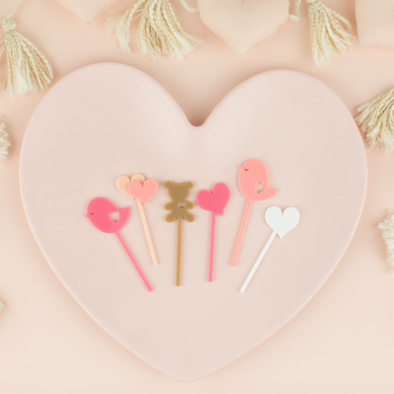Assorted Valentine's Day Custom Cupcake Toppers, 6 Count