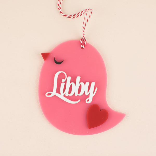 Love Bird Personalized Acrylic Hang Tag