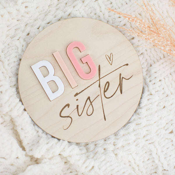 Big Brother Wood & Acrylic Round Sign