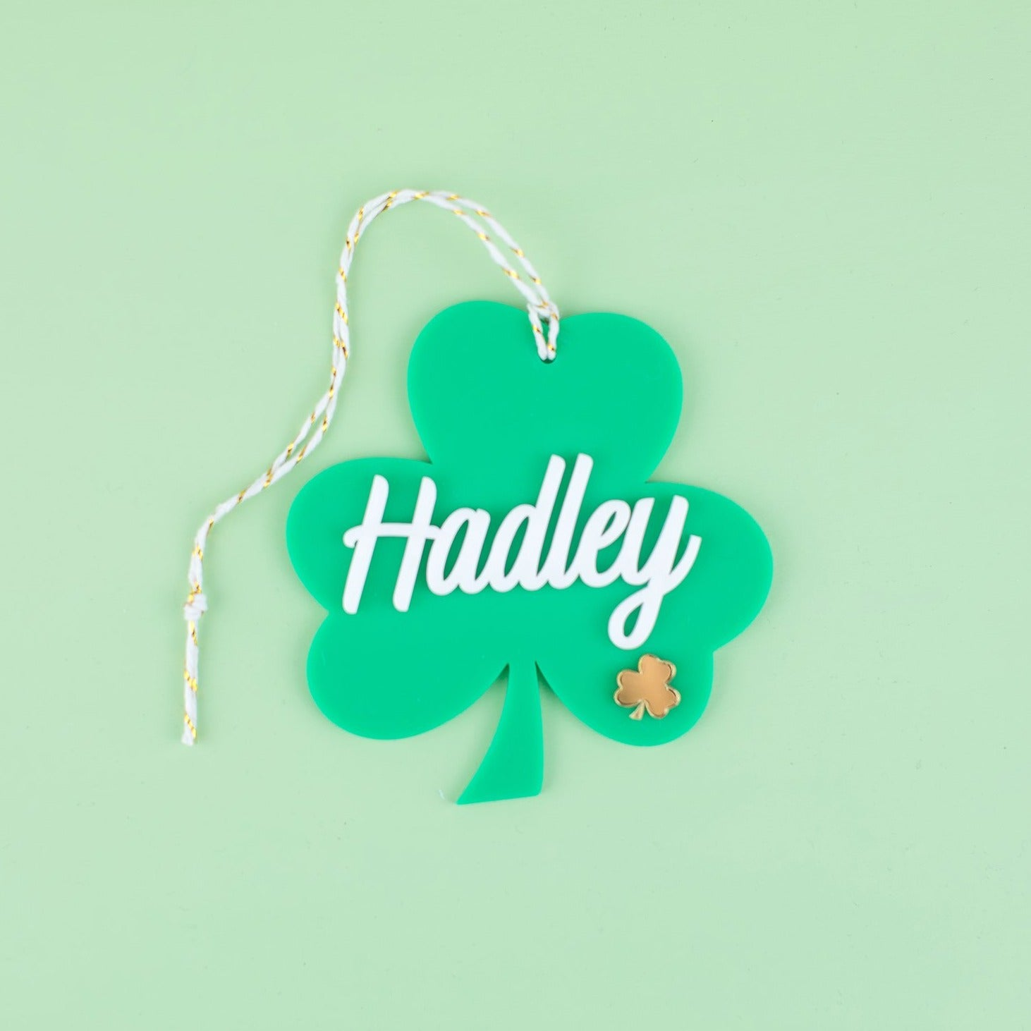 Shamrock Hang Tag