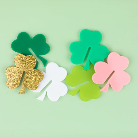Shamrock Glass Markers, 6 count