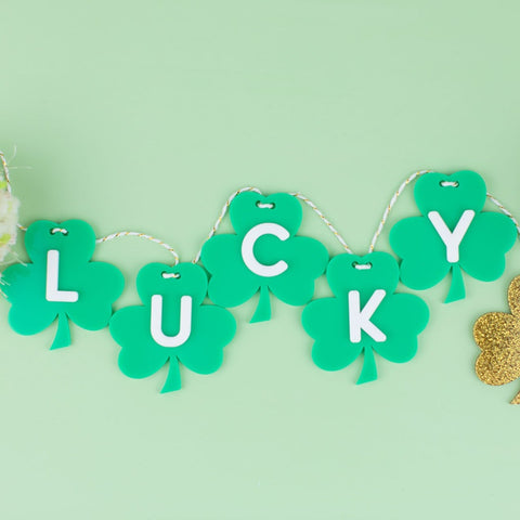 Mini Acrylic Shamrock Garland