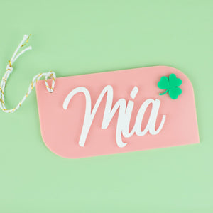 Slanted Shamrock Hang Tag