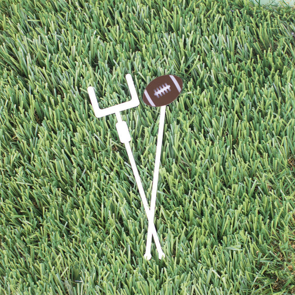 FootBall & Goal Post Stir Sticks, 6 count