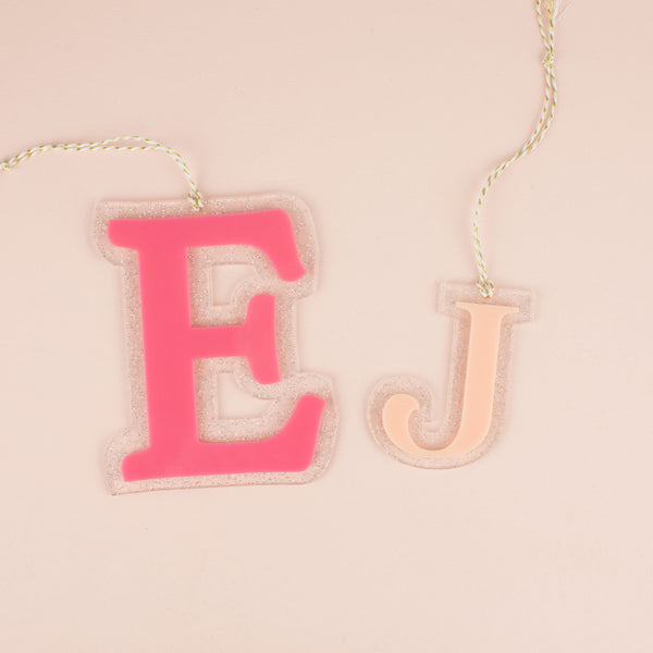 Large Letter Hang Tags