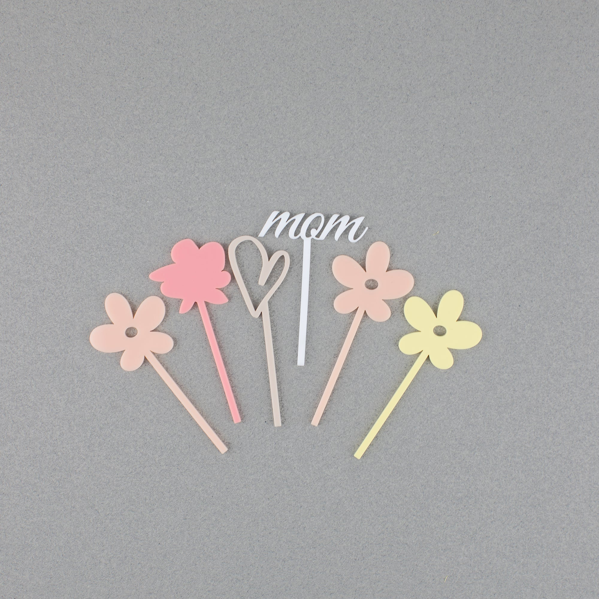Assorted Spring Cupcake Toppers, 6 Count