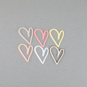 Assorted Hearts - 6 Count | Gift Tags | Place Setting