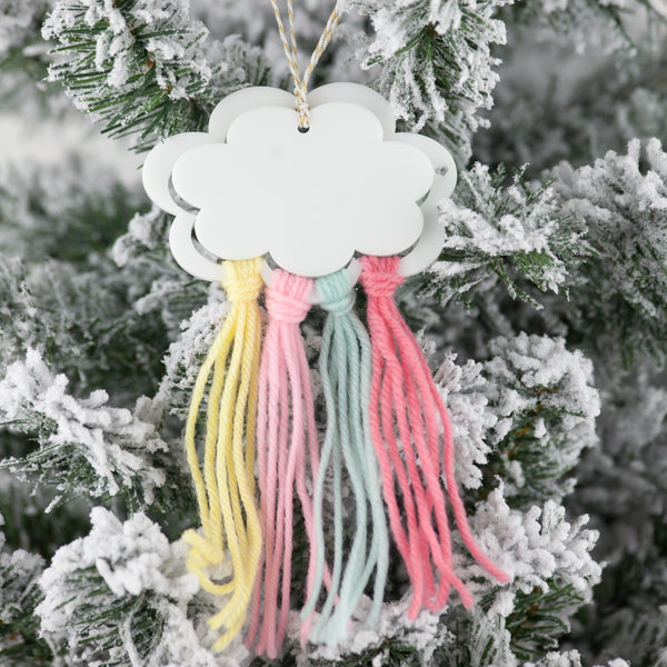 Dual Cloud Tassel Ornament
