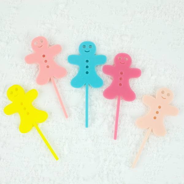 Gingerbread Cupcake Toppers, 6 count