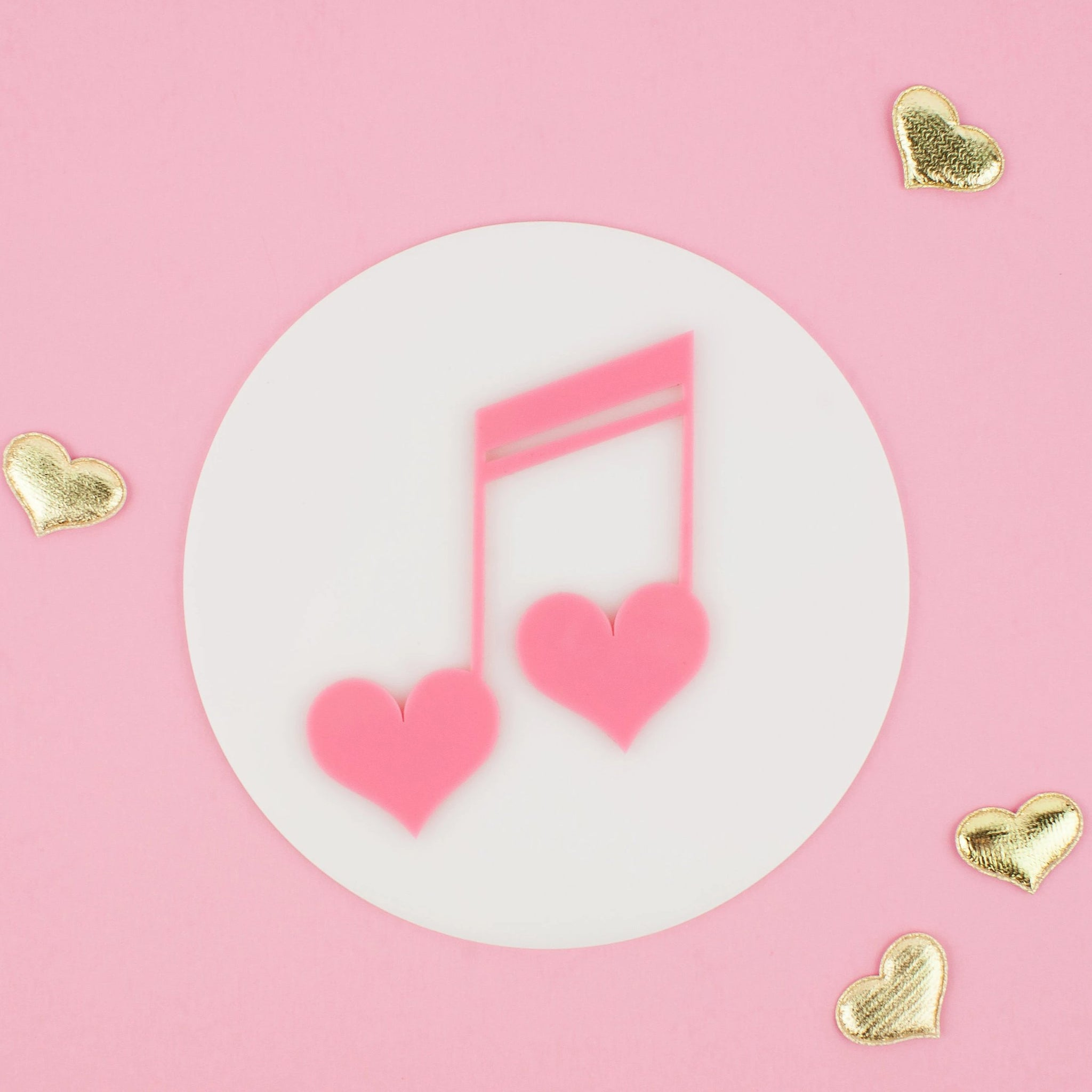 Heart Music Note Wall Decor