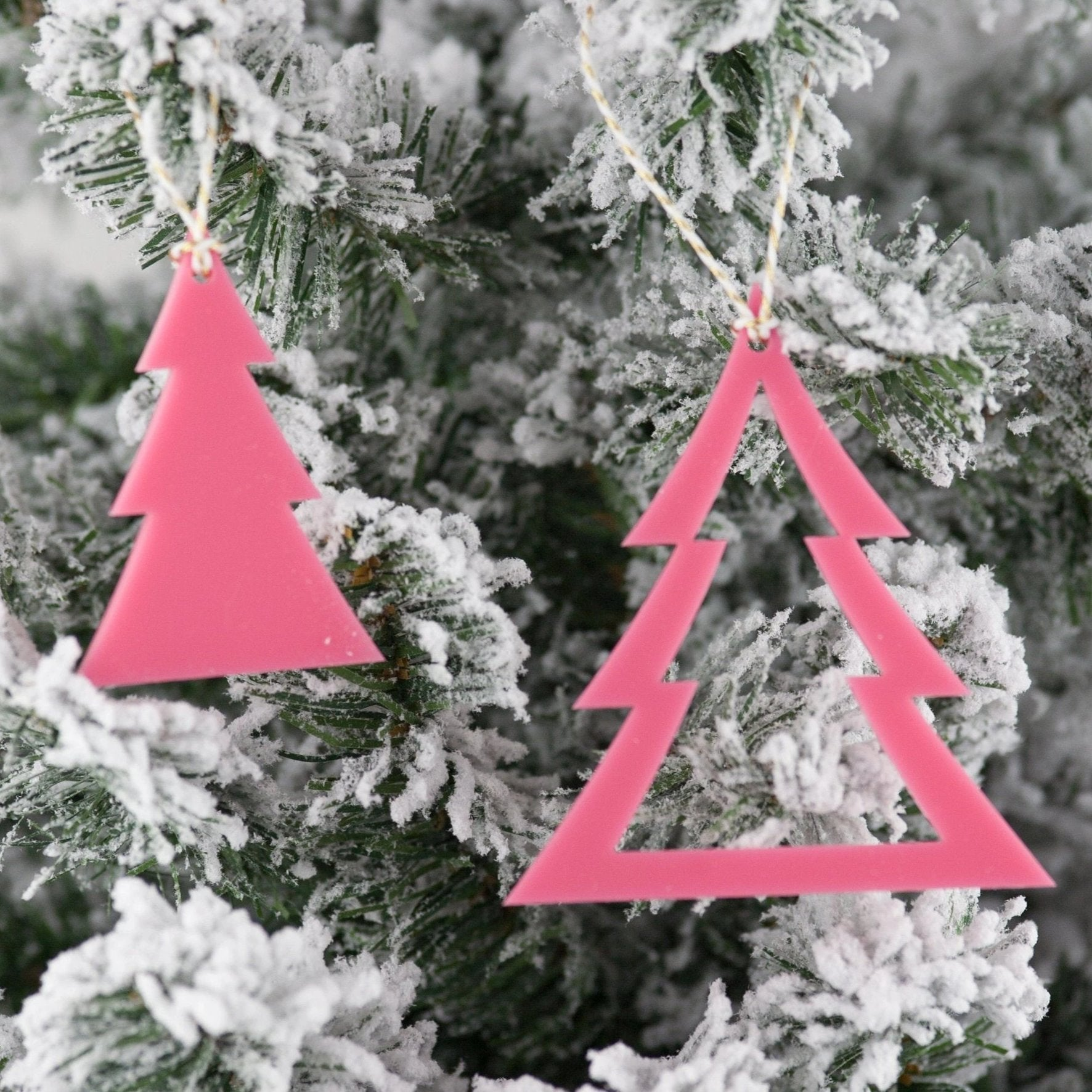 Dual Christmas Tree Ornaments
