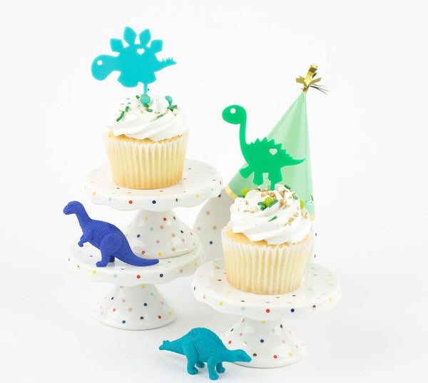 Dino Acrylic Cupcake Toppers - Set of 6
