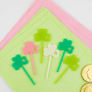 Shamrock Cupcake Toppers, 6 count