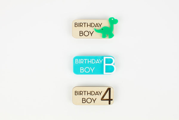 Boys Personalized Birthday Name Tag, Acrylic Tag, Birthday Name Tag, Personalized Name Tag, Magnetic Name Tag, Kids Name Tag, Mother's Day