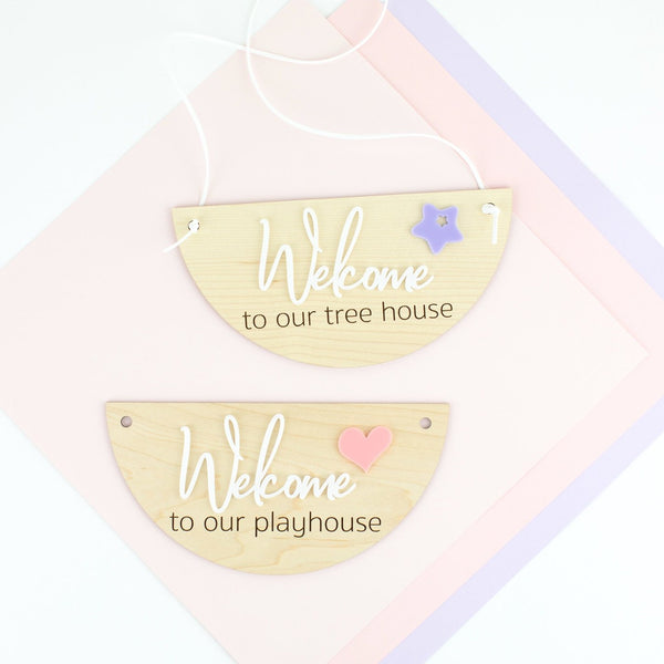 Personalized Playhouse Wood & Acrylic Sign - Playhouse Sign - Tree House Sign - Kids Decor