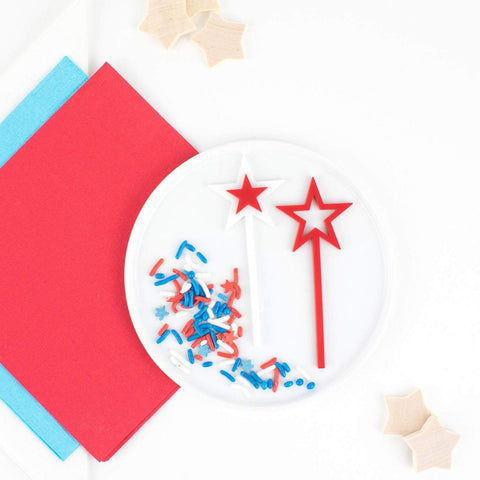 4th of July Cupcake Toppers, 6 count