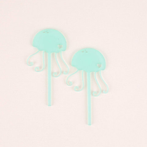 Jellyfish Cupcake Toppers, 6 count